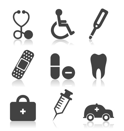 Set of icons on a theme medicine  A vector illustration Stock Vector - 16264358