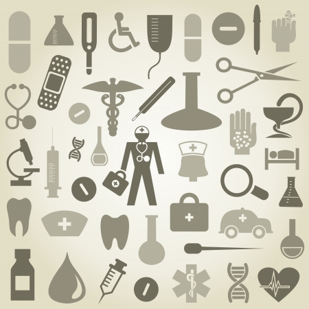 Set of icons on a theme medicine  illustration Vector