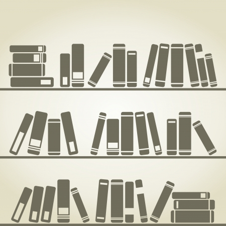 Books stand on a regiment  illustration Stock Vector - 16449846