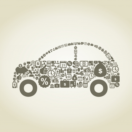 The car made of business   illustration Vector