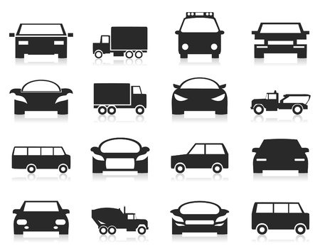 Set of icons of cars  illustration Vector