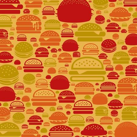 gourmet burger: Background made of a hamburger  illustration