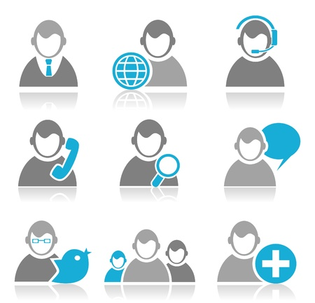 Set of icons the person for design   illustration Stock Vector - 16449840