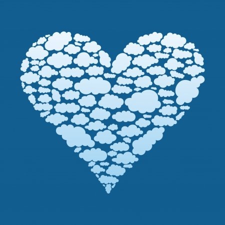 Heart made of a cloud Stock Vector - 16886018