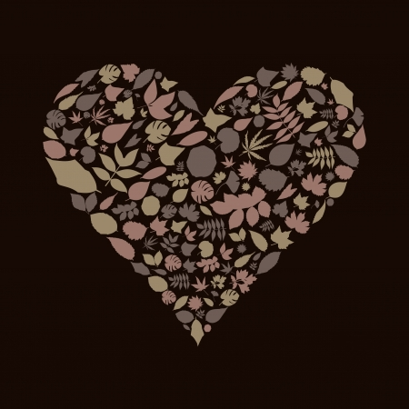 Heart made from leaf Stock Vector - 16886032