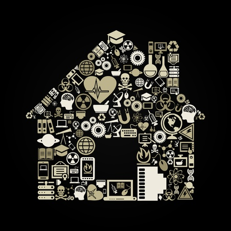 The house made of a science of subjects Stock Vector - 16886051