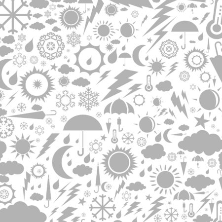 Background collected from weather symbols. A vector illustration Vector