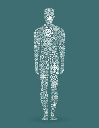 The person made of snowflakes  A vector illustration Stock Vector - 16985798