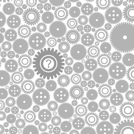 Background made of gears    Vector