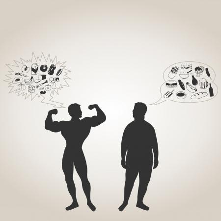 fat man: El deportista y el gordo