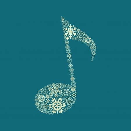 The note made of snowflakes  A vector illustration Ilustrace