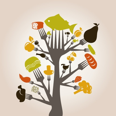 Food and meal on a plug  A vector illustration Stock Vector - 17513281