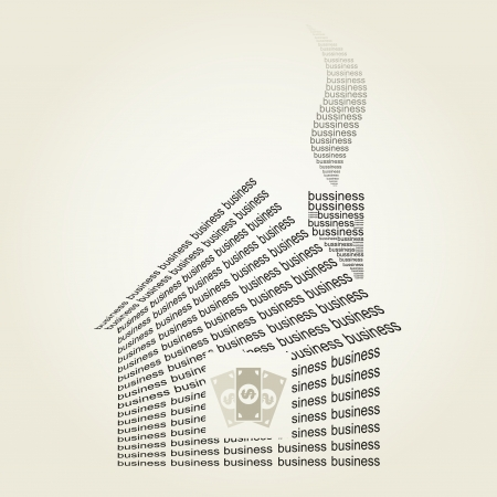 The house the business made of a word. Stock Vector - 18017243