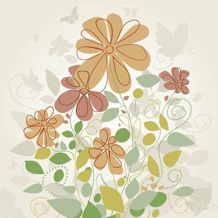 dismissed: In the spring flowers were dismissed. A vector illustration Illustration