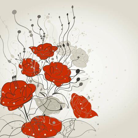 dismissed: The red flower was dismissed