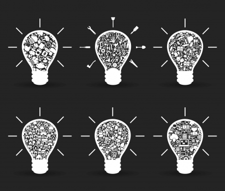gray bulb: Set of bulbs for design