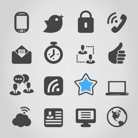 Set of icons for web design  A vector illustration Stock Vector - 18279471