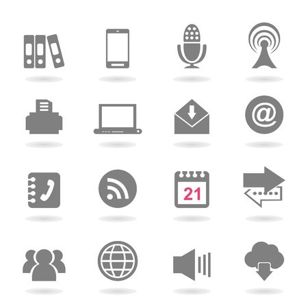 printer drawing: Set of icons for web design  A vector illustration