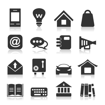 bank book: Set of icons for web design  A vector illustration