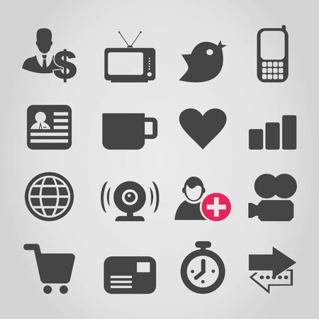 Set of icons for web design  A vector illustration Stock Vector - 18279487