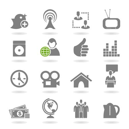 Set of icons for web design  A vector illustration Stock Vector - 18279474