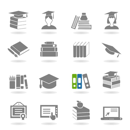 Set of icons on a theme school Stock Vector - 18382111