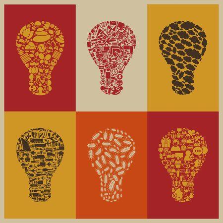 Set of bulbs for design Stock Vector - 18382173