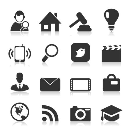 Set of icons for web design  A  illustration Stock Vector - 18466710