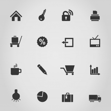 Set of icons for web design  A  illustration Vector