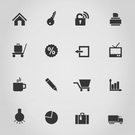 idea icon: Set of icons for web design  A  illustration Illustration