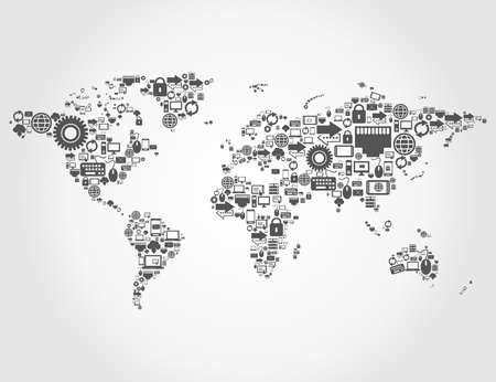 map made of the computer. A vector illustration Stock Vector - 18663523