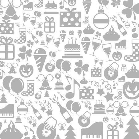 patric icon: Background made of a holiday illustration