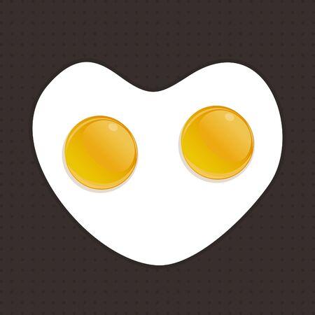 huevos fritos: Huevos fritos de dos huevos Una ilustración