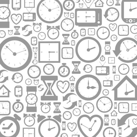 readout: Grey background of hours  A illustration