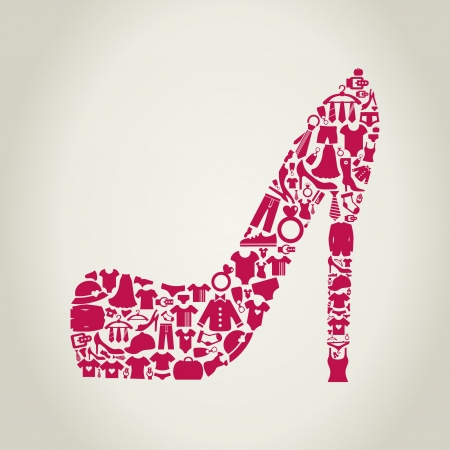 Shoes made of clothes  A illustration Vector