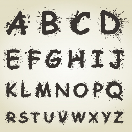 The alphabet from letters of blots  Stock Vector - 18965386