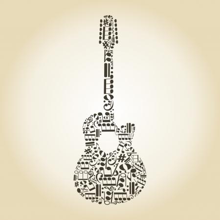 Gitarre aus Notizen