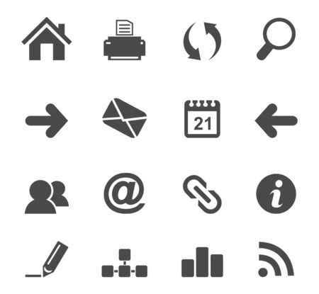 Set of icons for web design illustration Stock Vector - 18965354