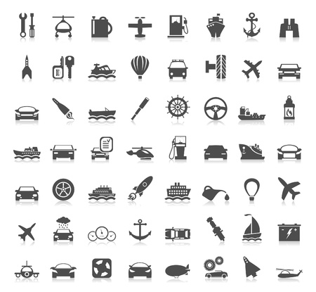 Collection transport of icons  Stock Vector - 18965369