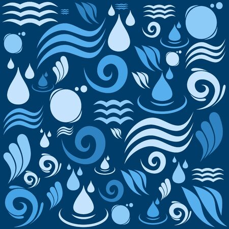 Background made of water. Stock Vector - 20481276
