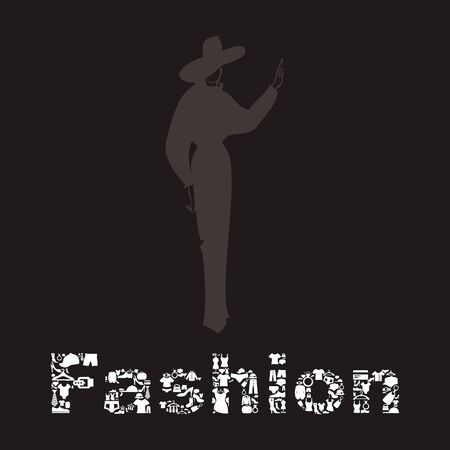 The fashionable woman and word a fashion.