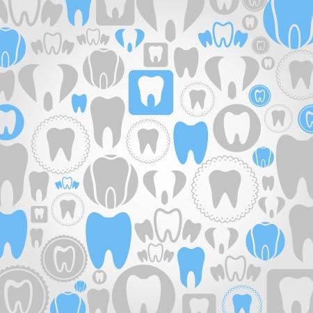 Hintergrund gemacht von Zähnen. Eine Abbildung Illustration