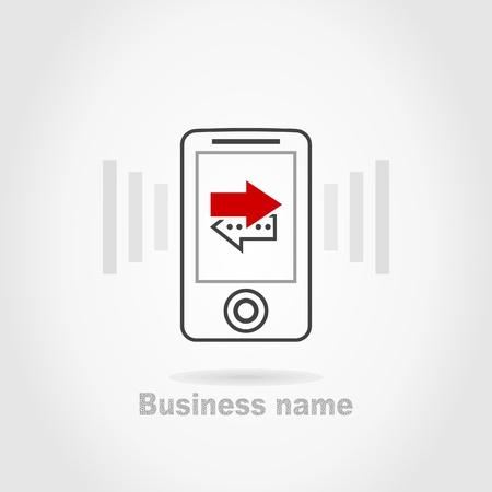 cellular telephone: Cellular telephone a sign for design. A vector illustration Illustration