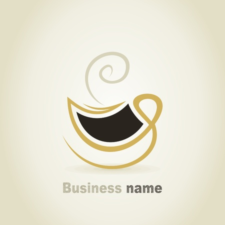 coffee cup vector: Cup of coffee a sign for design. A vector illustration Illustration