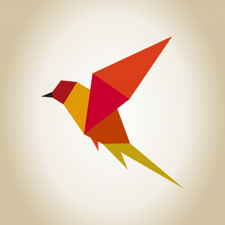 Abstraction a bird in flight. A vector illustration Vector