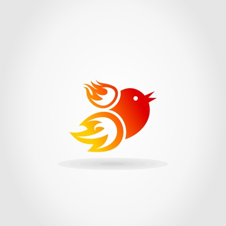 twitter: Birdie from fire. A vector illustration
