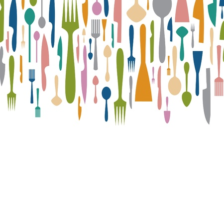 kitchen ware: Background from ware. A vector illustration