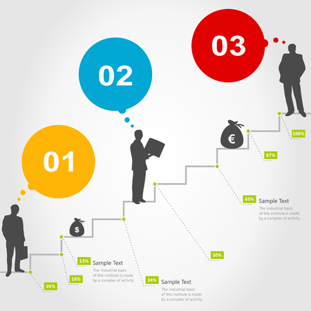 successes: Business a ladder of successes. A vector illustration