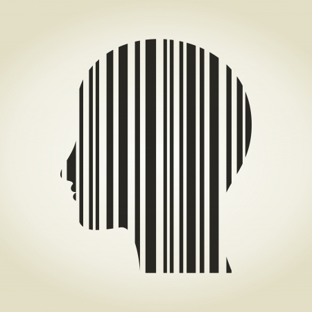 Head of the person as a stroke a code. A vector illustration Stock Vector - 22486418
