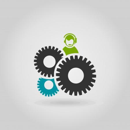 Gear wheel on a grey background. A vector illustration Stock Vector - 22710778